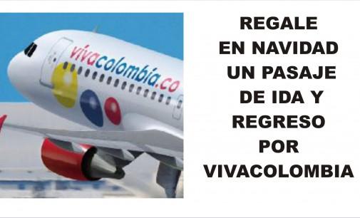 Regala en navidad un pasaje de ida y regreso por VivaColombia
