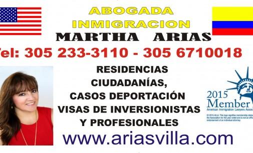 Martha L. Arias abogado de inmigración en Miami Florida USA