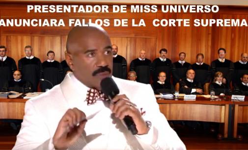 Presentador de miss universo anunciara fallos de la  corte suprema