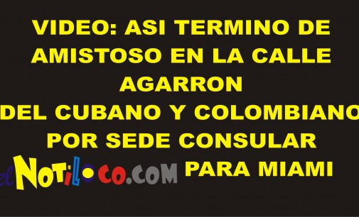 video: Captado en cámara pelea de comisionados cubano y colombiano, por consulado en Miami