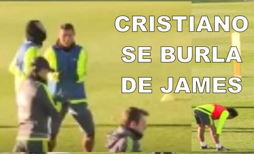 Cristiano se burla de James tras su exceso de velocidad al volante (video)