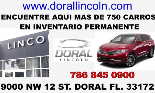 En Doral Lincoln sale manejando su carro con US 120 inténtelo  786.845 0900