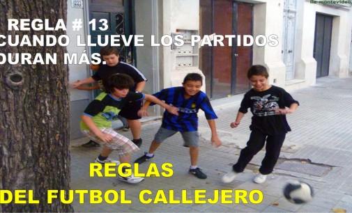 Reglas del futbol callejero.# 8- El que bota el balón, va por él.