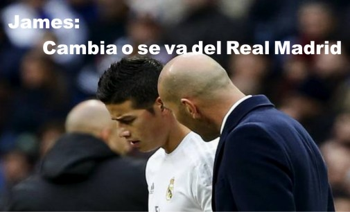 James: cambia o se va del Real Madrid.