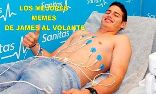 Los  mejores memes de James Rodríguez al volante