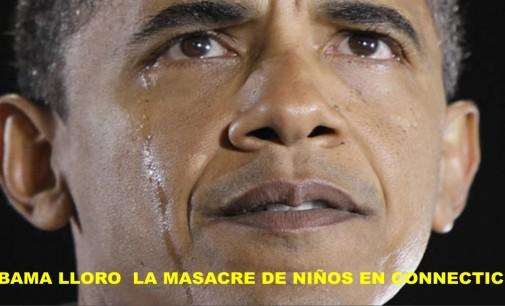 Obama lloró por la masacre de niños en Connecticut, video