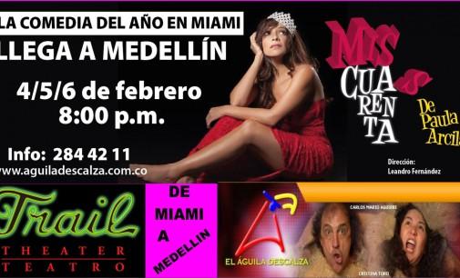 Un año agotando boletería en Miami, Paula Arcila al Aguila Descalza en Medellin