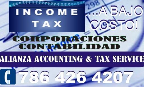 INCOME TAX – A BAJO COSTO Y MUCHO MAS $$$ EN SU DEVOLUCION DE ESTE AÑO!
