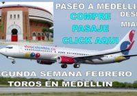 Paseo en avión con Alvaro Botero ver toros a  Medellín en febrero