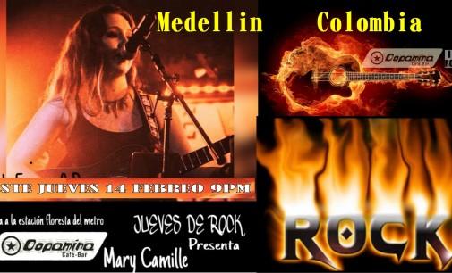 Mary Camille, este jueves 14 en Medellín, en Dopamina Bar donde nacen las estrellas
