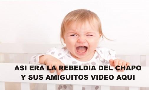 De niño el Chapo mostro su capacidad evasiva junto con sus amiguitos como lo muestra este video