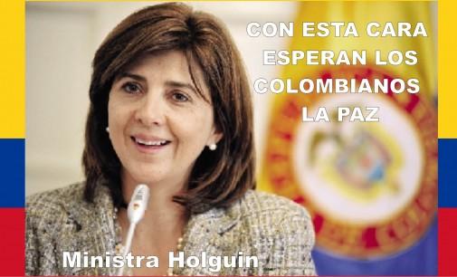 La canciller Holguín es la que arma la carpintería de la paz