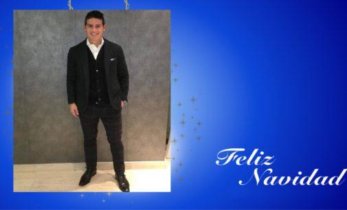 Llego Saludo de James Rodríguez  por esta navidad