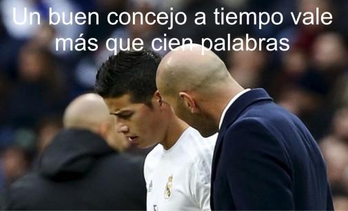 El consejo que le dio el técnico del Real Madrid, Zinedine Zidane,  a James