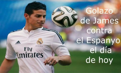 Golazo de James contra el Espanyol el día de hoy