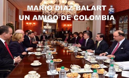 Mario Díaz Balart y colegas se reunieron con el presidente Santos