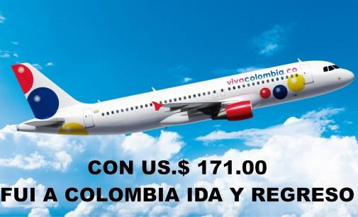 Mi experiencia de haber viajado por US $ 171.oo, ida y regreso a Colombia
