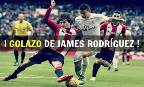 Con este golazo de James el Real Madrid derroto al Athetico de Bilbao 4 a 0