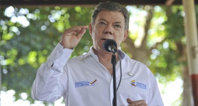 Hoy estuvo el presidente Santos en Miami