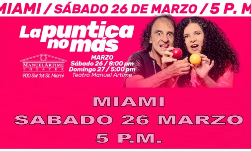 """Aguila Descalza """"La puntica no mas""""  sabado 26 marzo en Miami"""