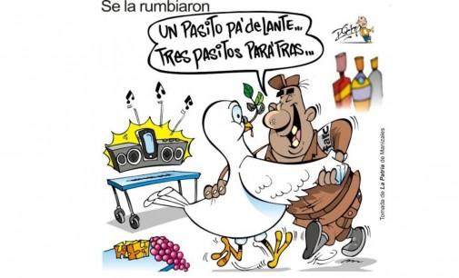 La mejor caricatura llegada al Notiloco de la paz de Santos