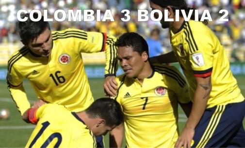 Colombia le ganó a Bolivia 3-2 con gol agónico de Edwin Cardona