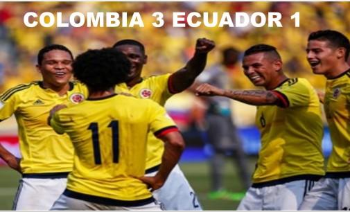 Colombia le gano a Ecuador 3 x 1 camino a Rusia 2018