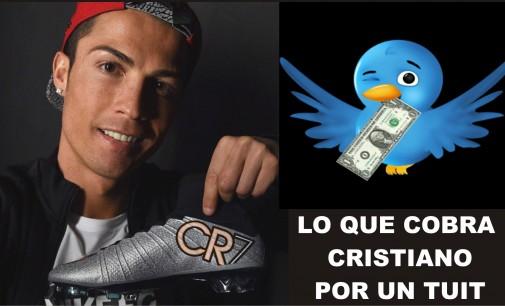 ¿Sabes lo que cobra Cristiano Ronaldo por un tuit publicitario?