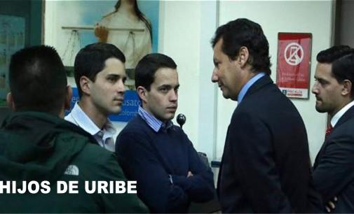 Hijos de Uribe Tomas y Jeronimo, se presentaron en la Fiscalia
