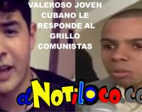 Miguel Angel Cardoso valiente joven cubano, le responde a grillo comunista