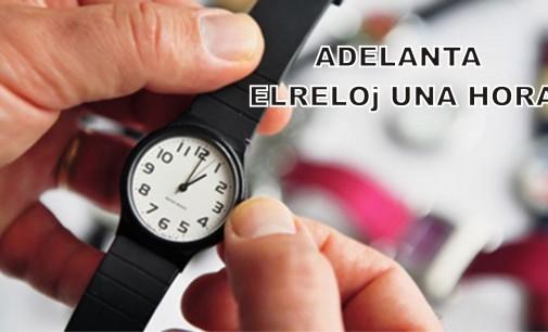 Antes de acostarse adelanta el reloj una hora