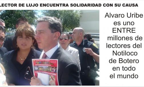 Alvaro Uribe encuentra solidaridad en Miami, marcha 2 de abril