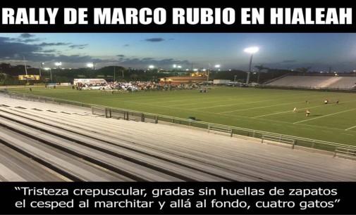 Asi mostro esta imagen  facebook del desolado Rally de Rubio en Hialeah