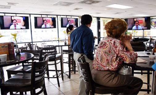 Pobre asistencia de venezolanos en Miami a respaldar a Rubio, solo con cubanos no llegan