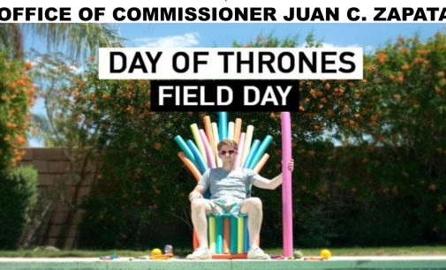 Day of thrones field day commissioner Juan C. Zapata