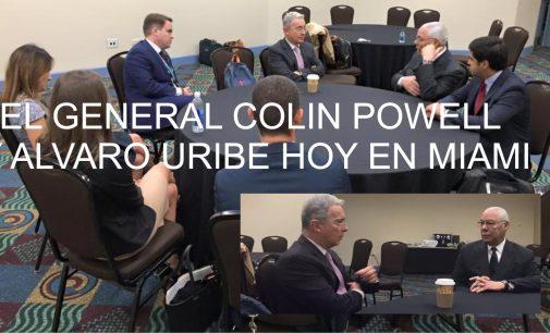 Tenemos la foto del General Colin Powell y Alvaro Uribe hoy en Miami