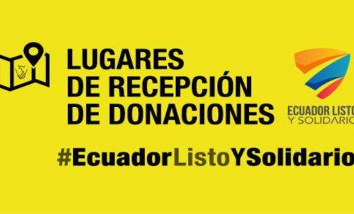 Consulado de Ecuador informa por este medio donde entregar donaciones