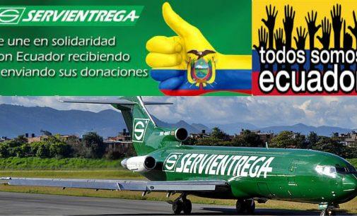 En Servientrega recibe y entregara sus donaciones en Ecuador clik aqui