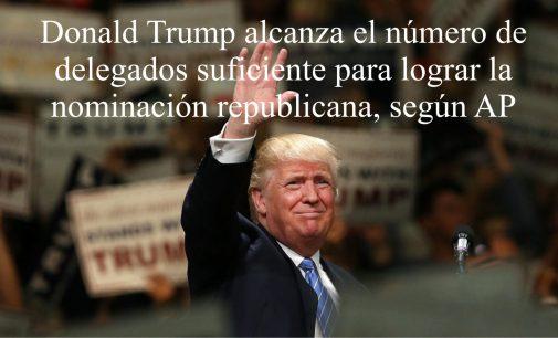 """Trump llegó al número """"mágico"""" para asegurarse la candidatura presidencial para las elecciones de noviembre."""