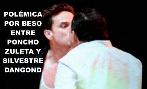 El beso entre Poncho Zuleta y Silvestre Dangond