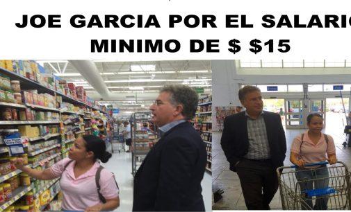 Joe García trabajara por el Salario Mínimo