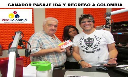 Viva Colombia entrego en la 106.3 Con Iván van, pasaje a Colombia