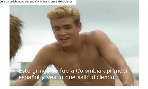 Este gringo se fue a Colombia aprender español y vea lo que salió diciendo
