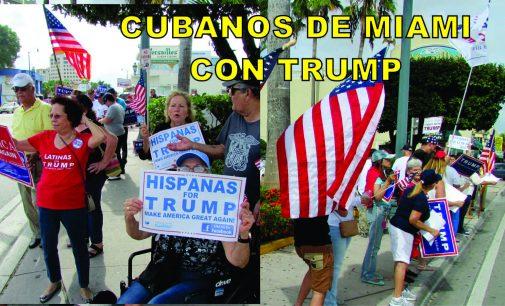 Impresionante demostración de cubanos  y latinos, desfilaron toda la tarde apoyando a Donal Trump en Miami