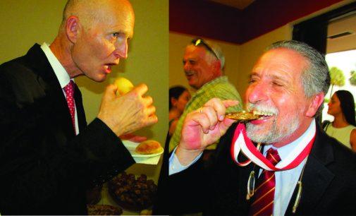 A la fábrica de pandebono de David Alfandari, llego el gobernador Scott con la medalla del éxito empresarial
