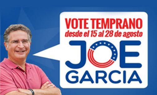 Mañana Joe Garcia estara en la Carreta de la 117 y 88 st recibiendo los resultados