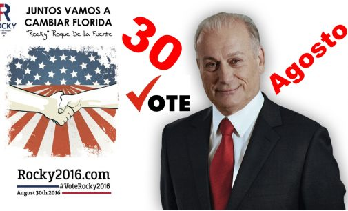 Vote este 30 al senado por el mexicano Rocky de la Fuente, por la Florida