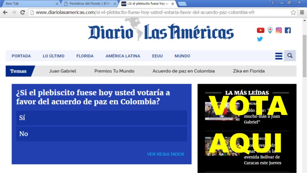 vote diario las americas