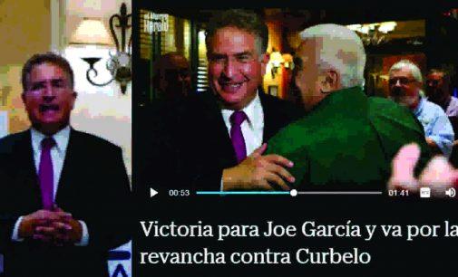 Victoria para Joe García y va por la revancha contra Curbelo