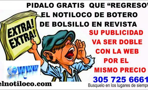 Regresa el Notiloco de Botero de bolsillo y gratis en puestos de siempre 305 725 6661